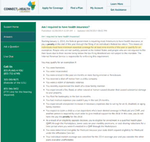 """Connect FAQ about """"short gap"""" in ACA coverage"""